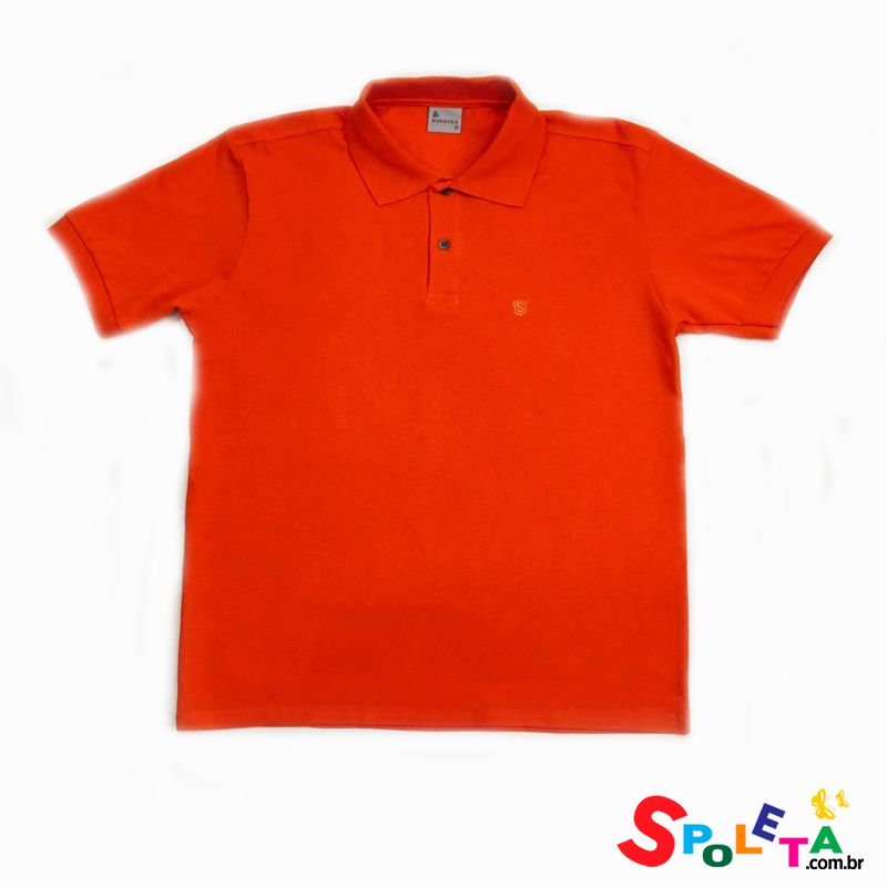 Camisa Polo Lisa Laranja - Sudotex