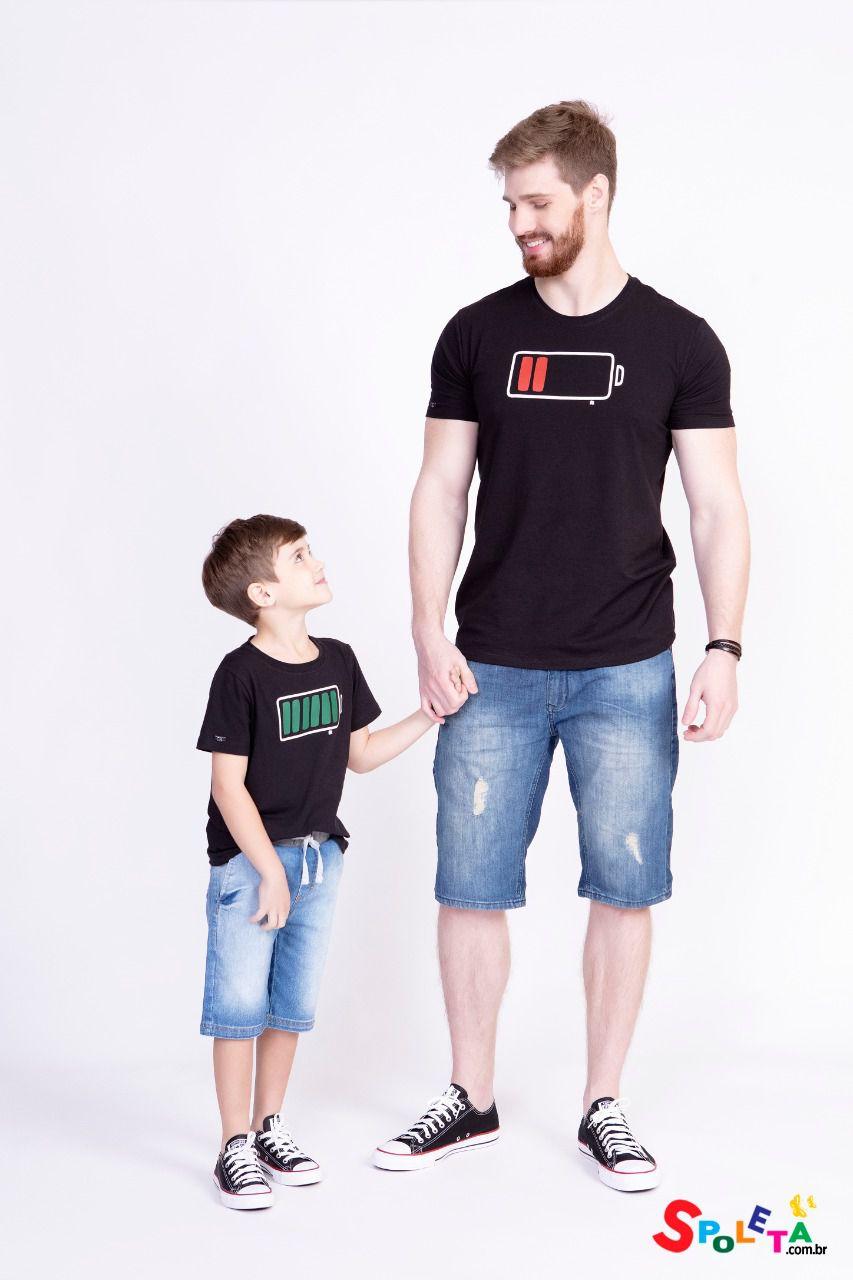Camiseta Energia Infantil Pai e Filho