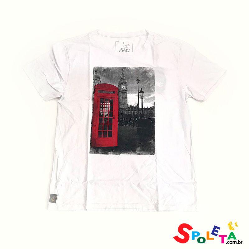 Camiseta Estampada Branca TELEPHONE - OMG