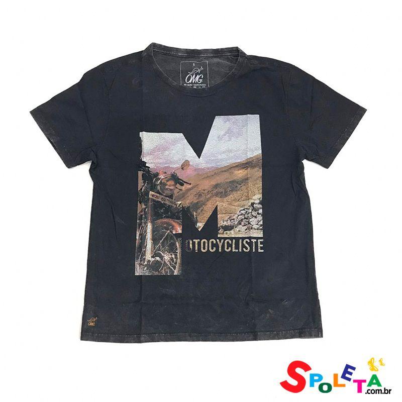 Camiseta Estampada MOTOCYCLISTE - OMG