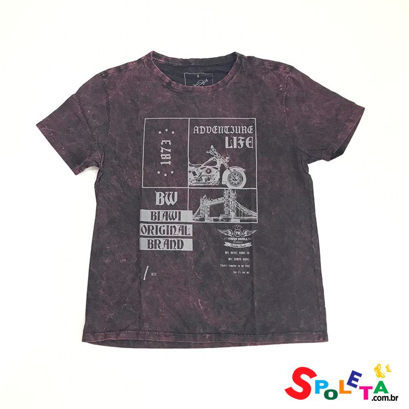 Camiseta Estampada Vinho - OMG