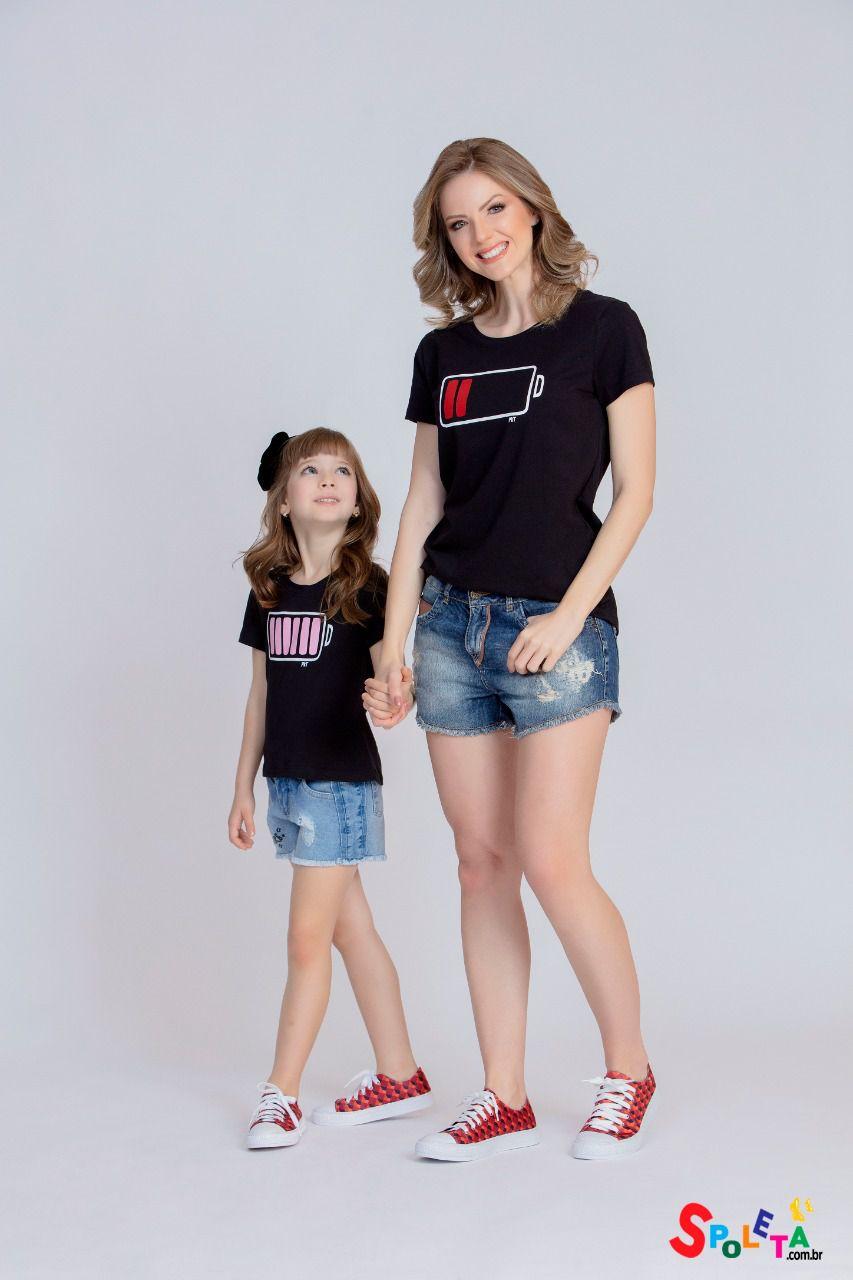 Camiseta Feminina Energia - Mãe e Filha