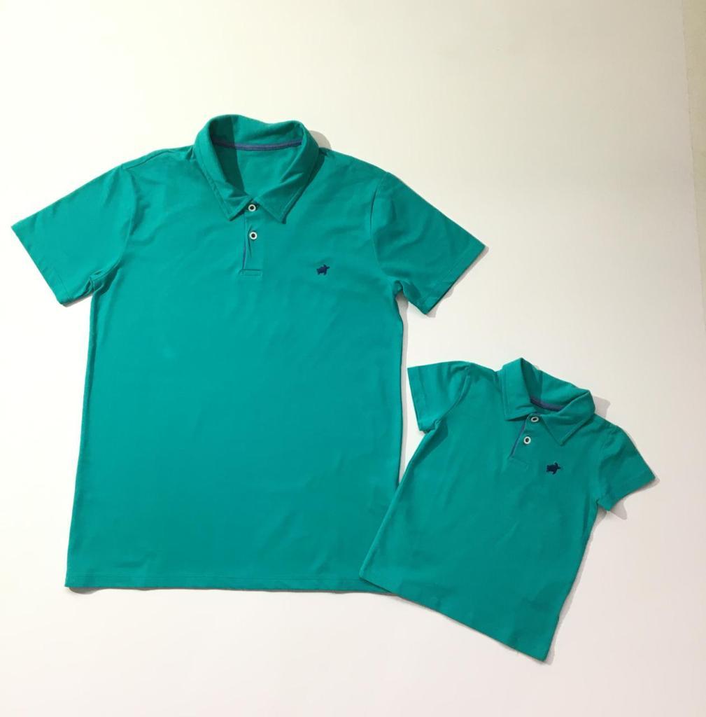 Camiseta Gola Polo Pai e Filho