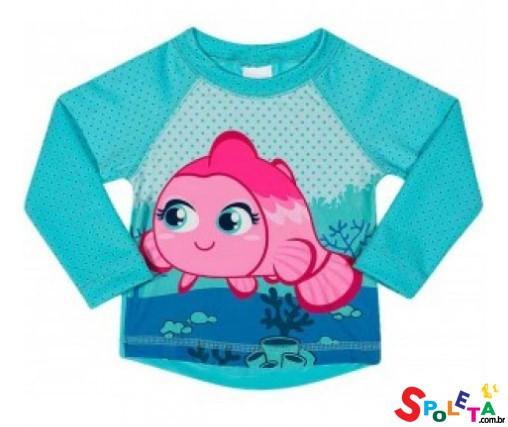 Camiseta Infantil Feminina Peixinha UV