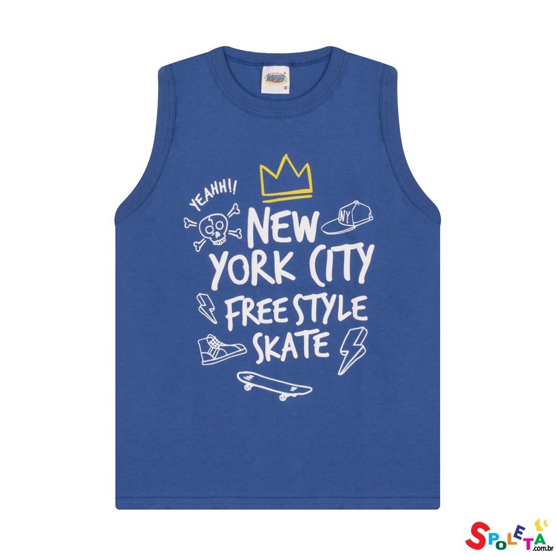 Camiseta Infantil Masculina Regata NY