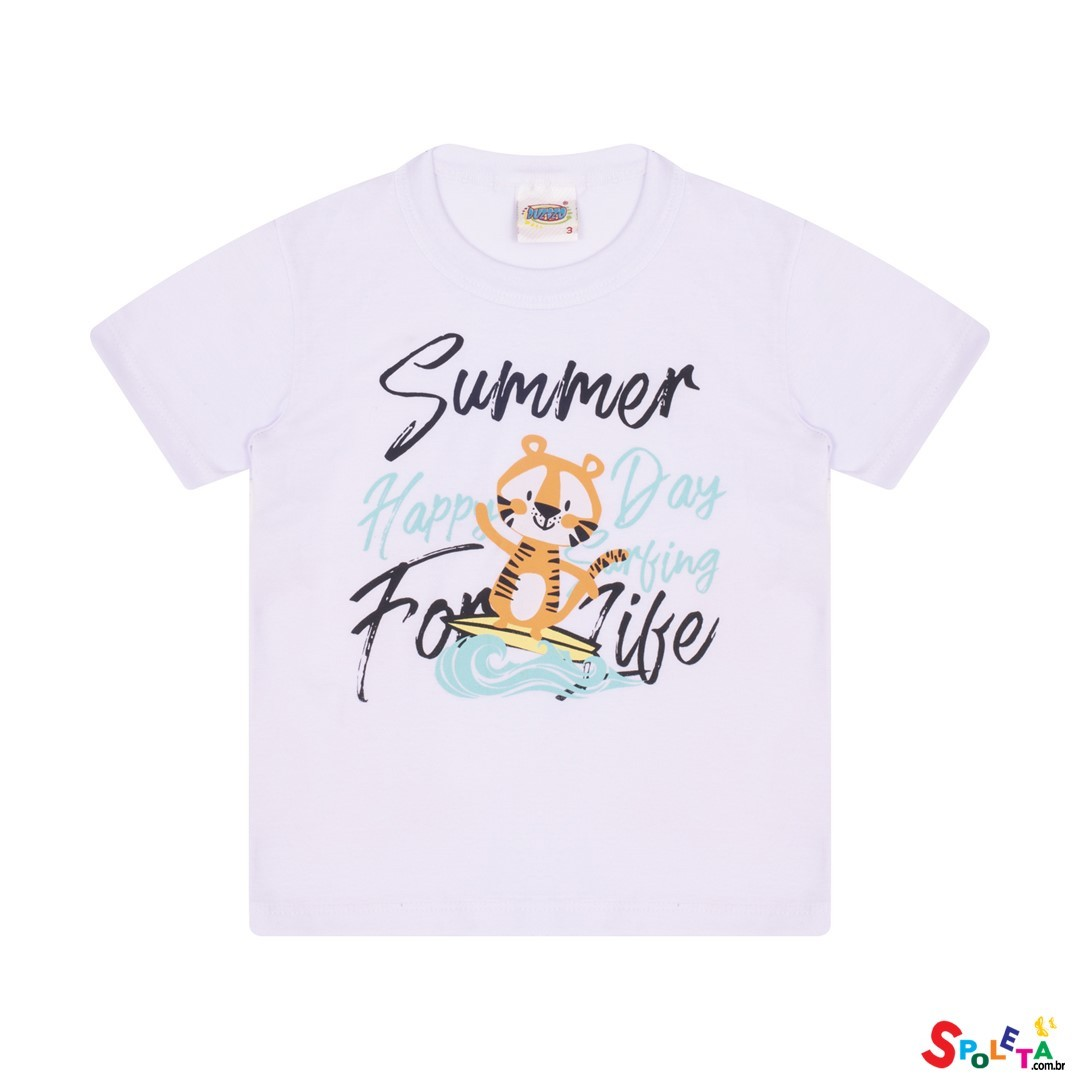 Camiseta Infantil Masculina Tigre Summer
