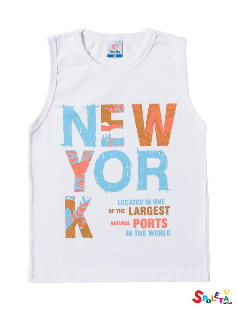 Camiseta Infantil Masculina Regata New York