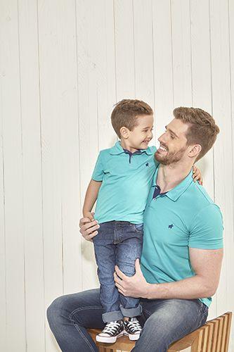 Camiseta Polo Moda Pai e Filho
