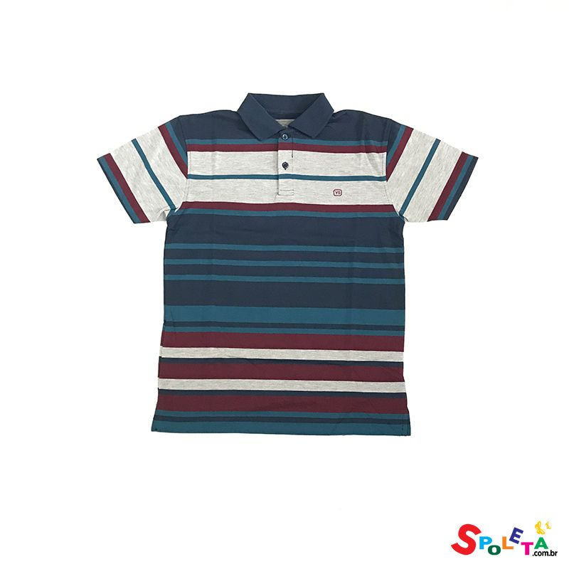Camiseta Polo Kids Slim Fit