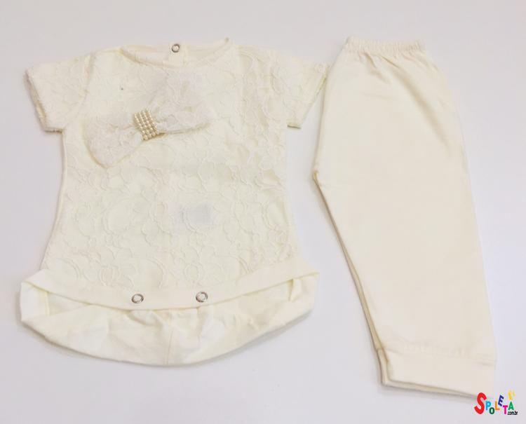 Conjunto Bebê Blusa e Calça Bordado
