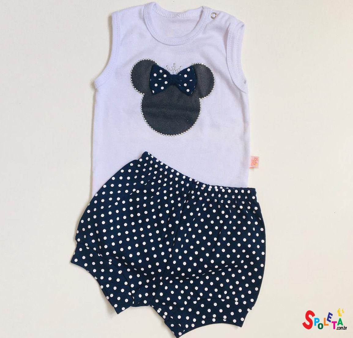 Conjunto De Body Regata Minnie Mouse