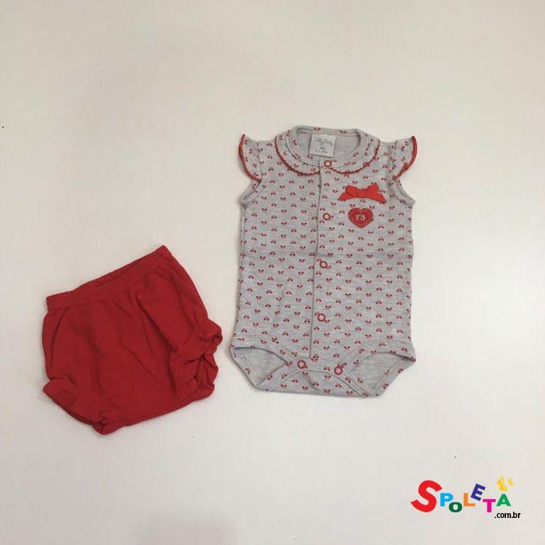 Conjunto Body e Tapa Fralda Tilly Baby