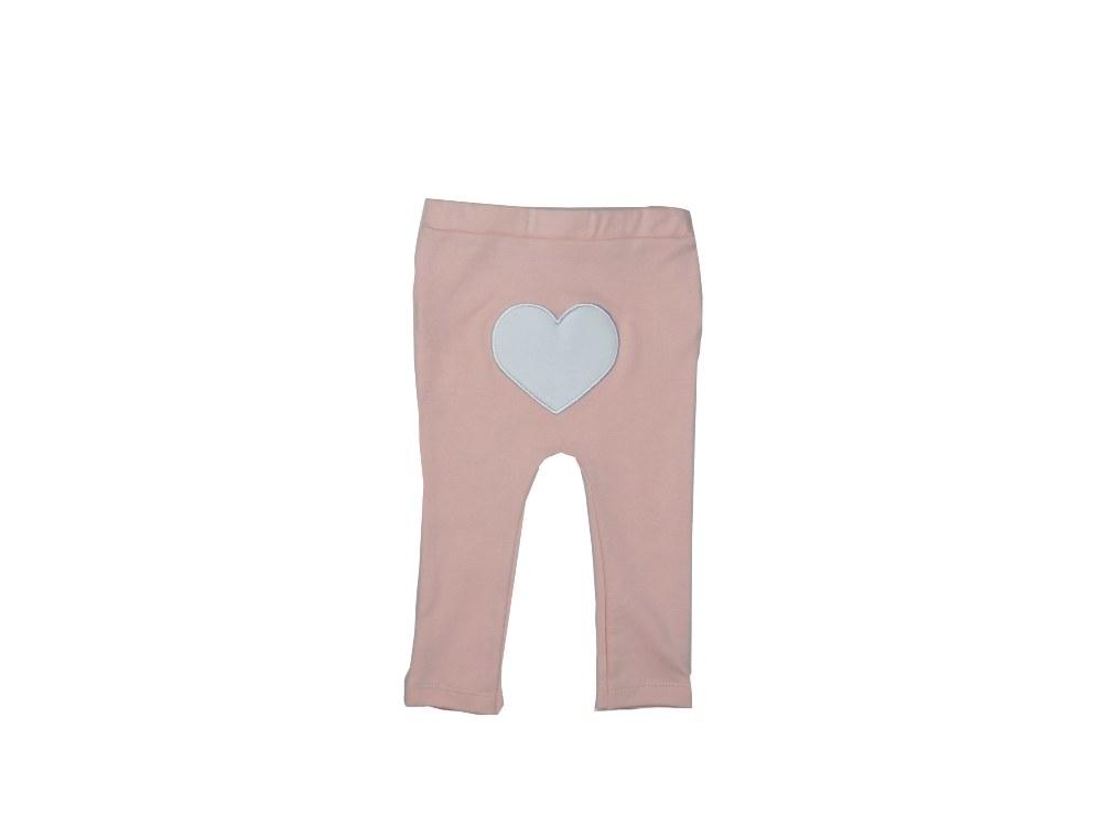 Conjunto Infantil Bêbe Body e Calça 3 Corações Rosa