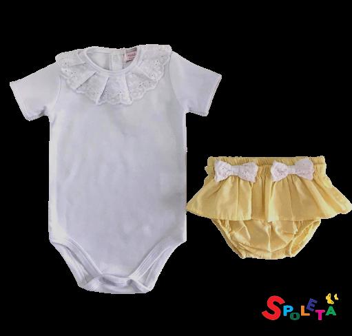 Conjunto Infantil Feminino Body e Calcinha Siena