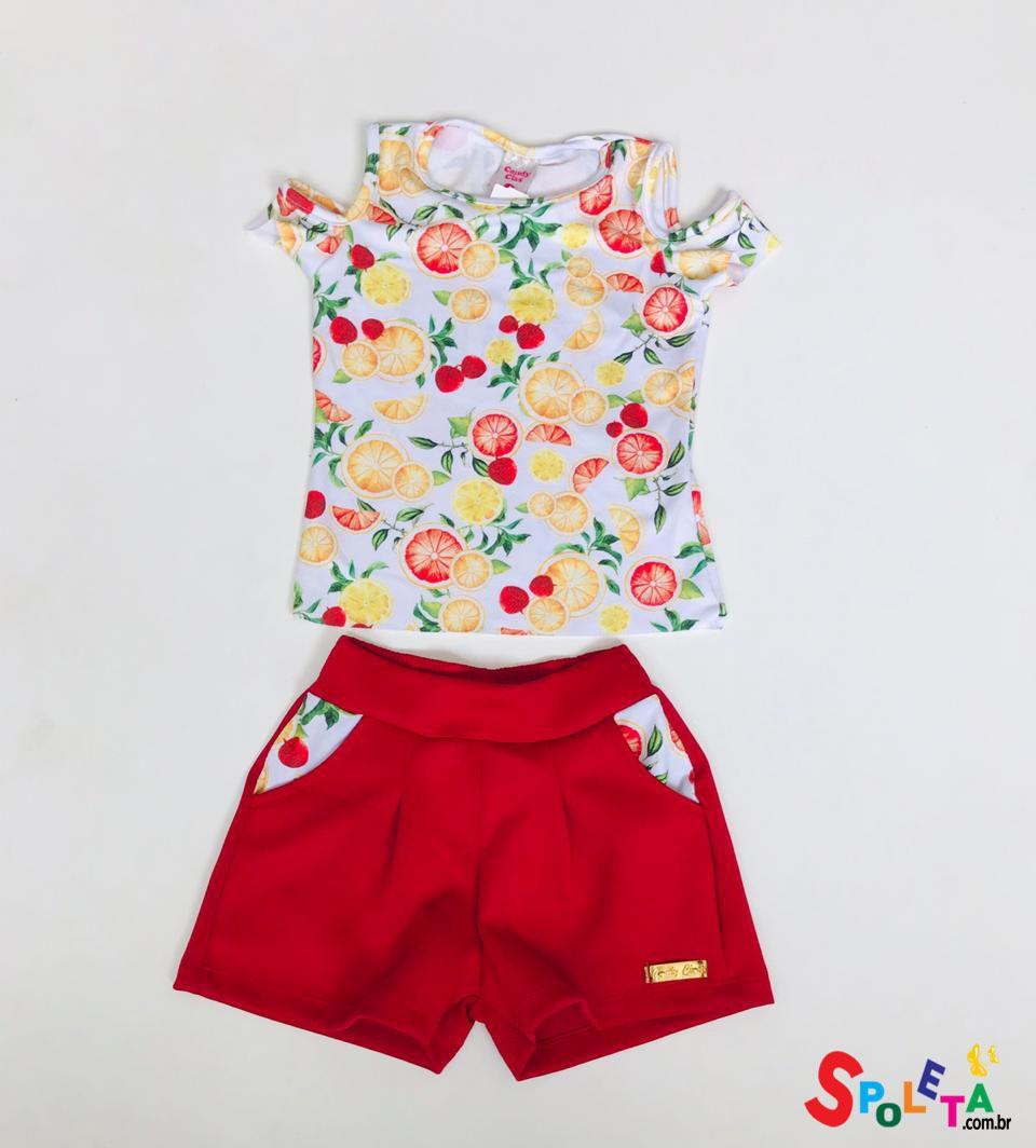 Conjunto Infantil Feminino Candy Fruit