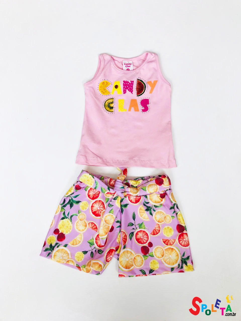 Conjunto Infantil Feminino Candy Frutas