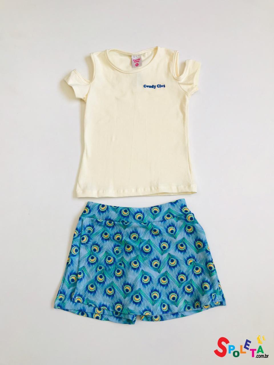 Conjunto Infantil Feminino Candy Plum