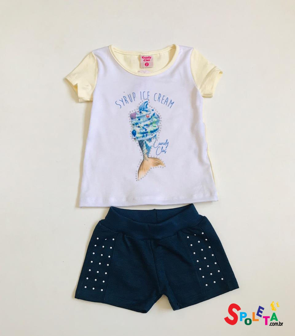 Conjunto Infantil Feminino Ice Cream