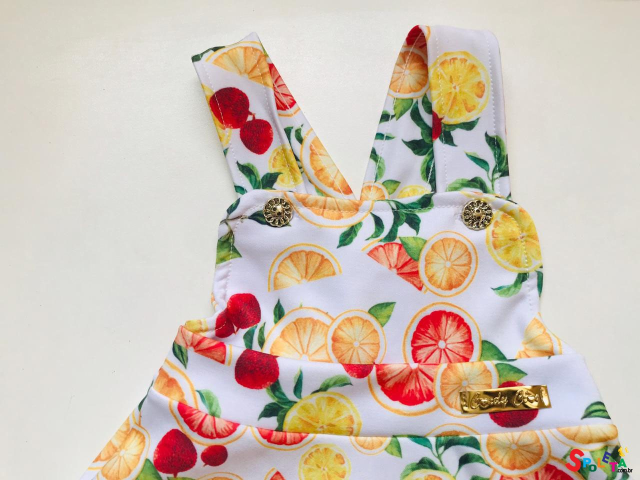 Conjunto Infantil Feminino  Salopete Citrus