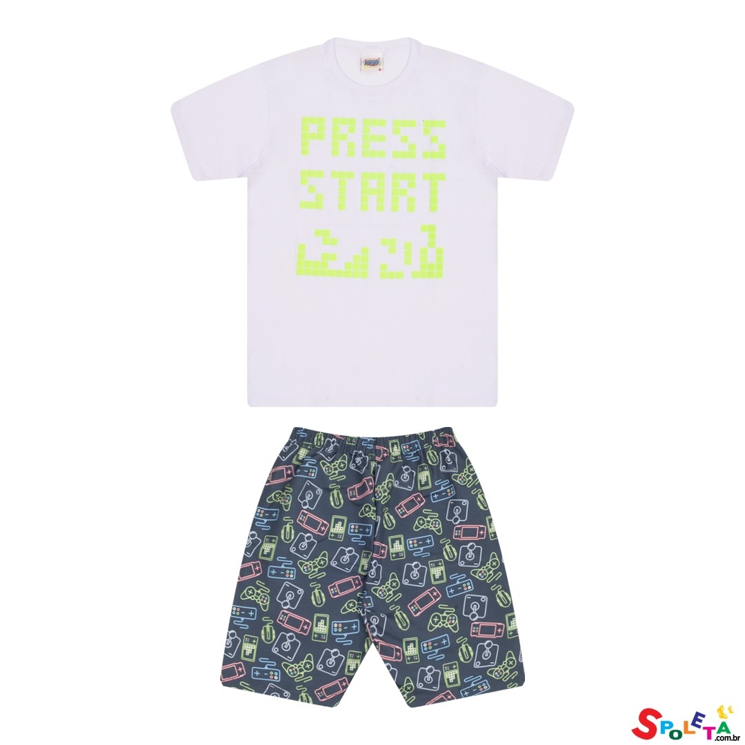 Conjunto Infantil Masculino Press Start