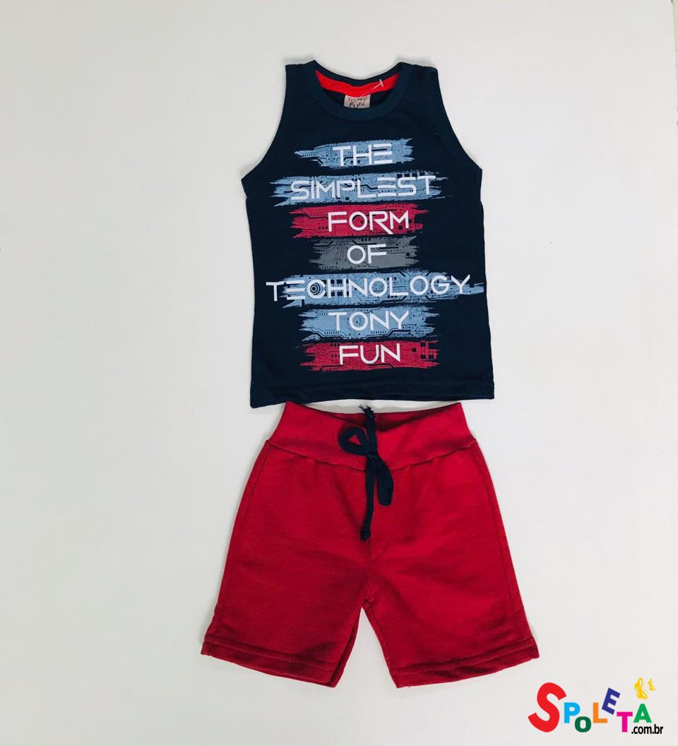 Conjunto Infantil Masculino Tecnology