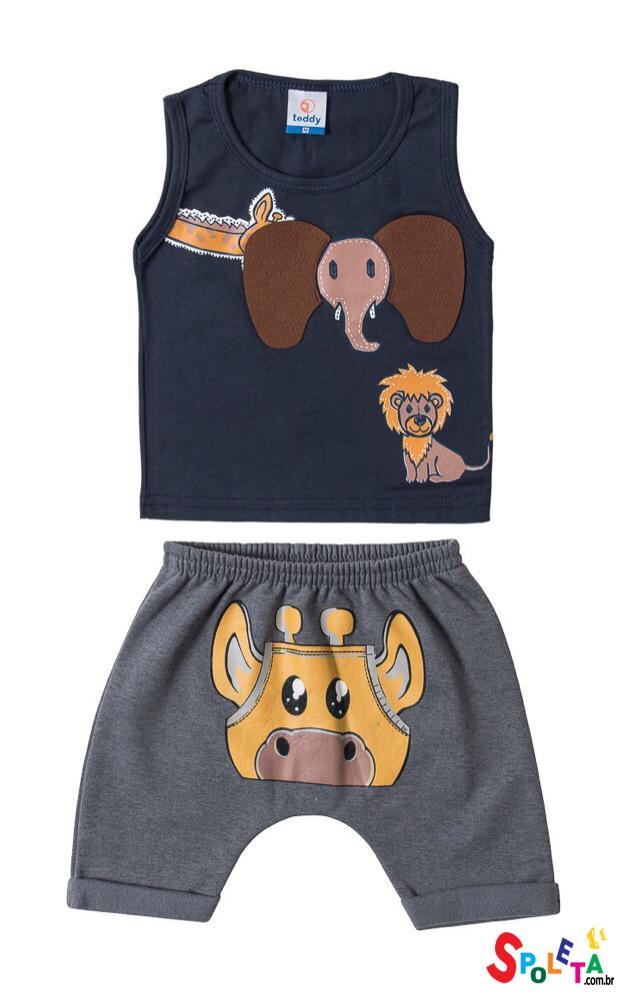Conjunto Infantil Masculino Regata Elefante