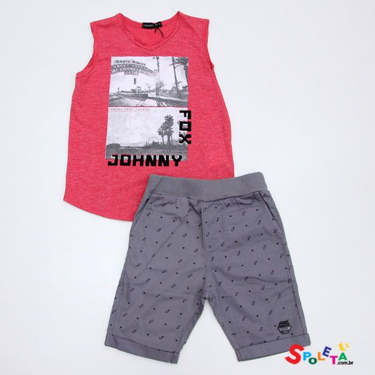 Conjunto Infantil Masculino Regata  Johnny Fox