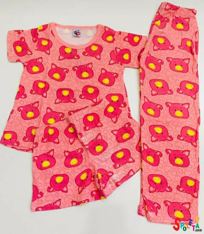 Conjunto Pijama Feminino Urso