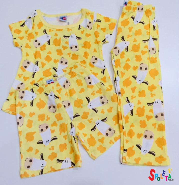 Conjunto Pijama 3 Peças