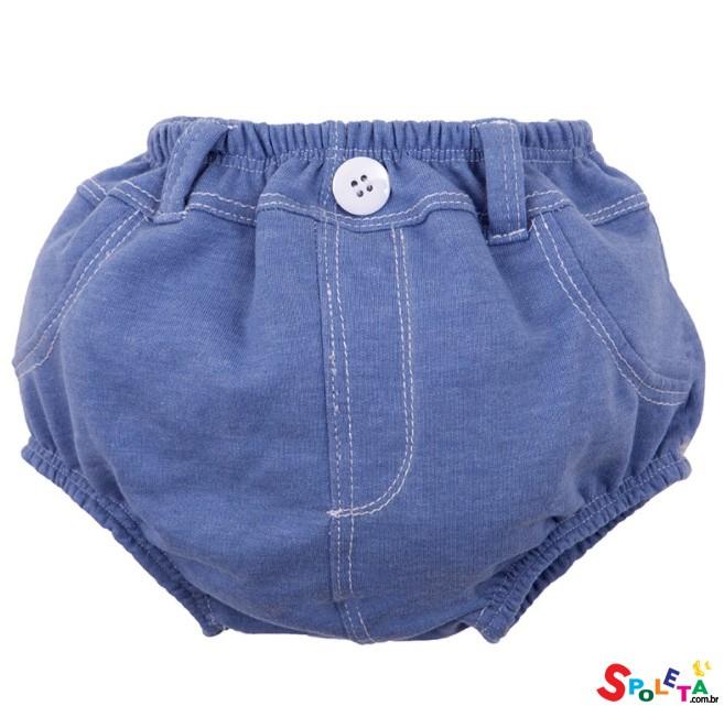 Cueca Cobre Fralda Azul Zip