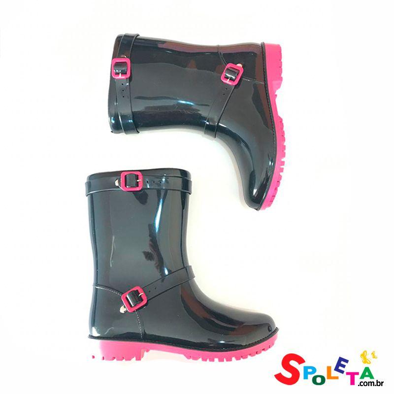 Galocha Pink e Preta Tom Kids Word Colors