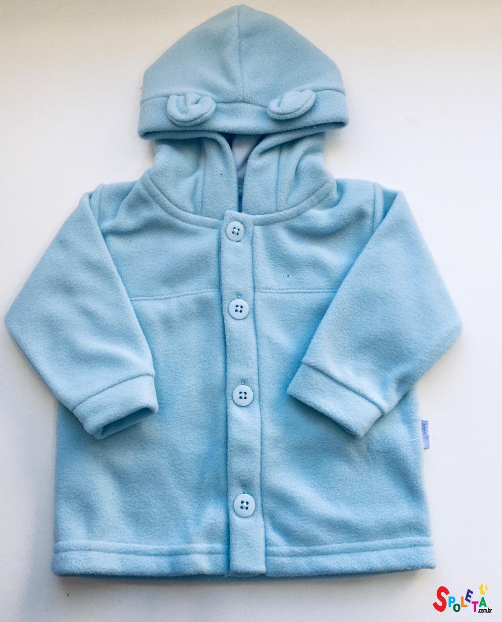 Jaqueta soft urso azul