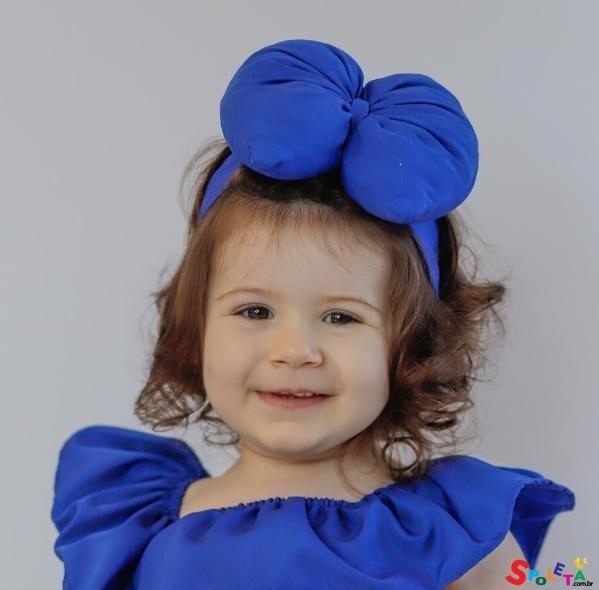 Laço big Azul Royal
