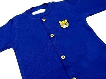 Macacão Infantil Bebê Mangas Azul Petróleo