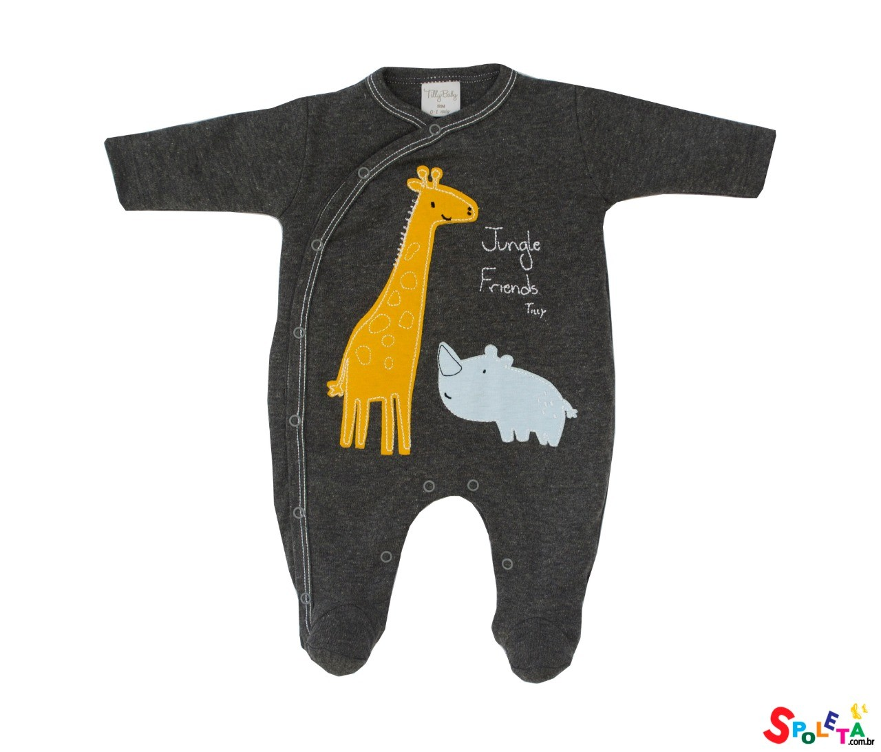 Macacão Infantil Masculino Longo Girafa Tilly Baby