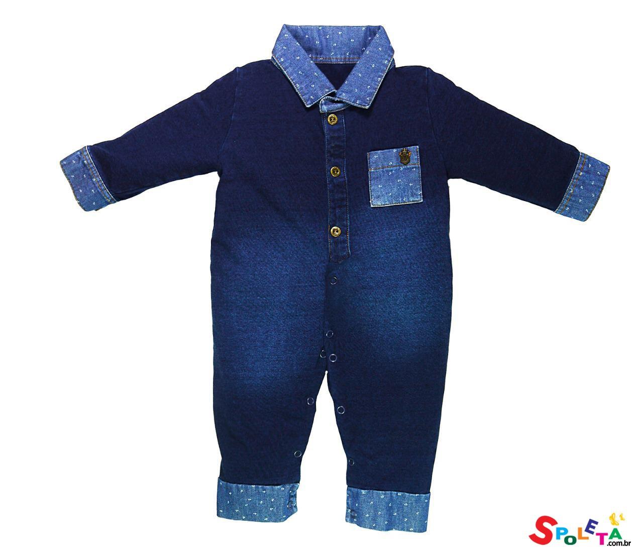 Macacão longo masculino jeans