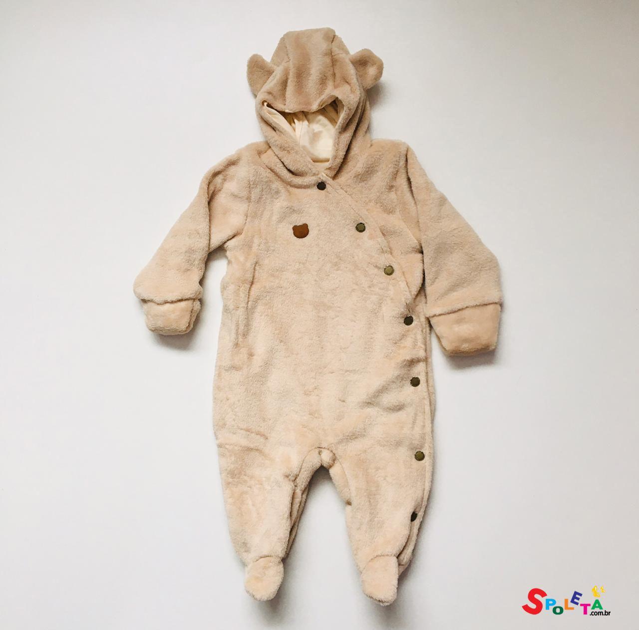 Macacão Pelúcia Urso Aconchego do Bebe