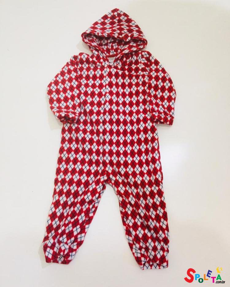 Macacão Pijama Soft Xadrez