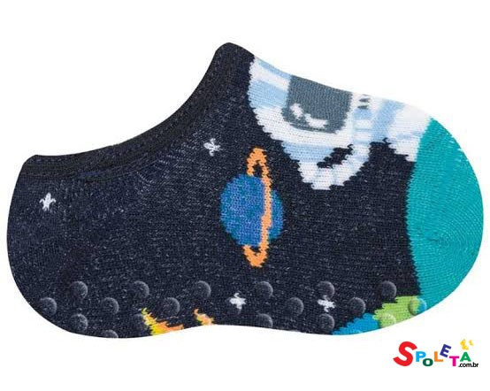 Meia sapatilha astronauta