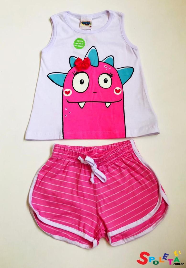 Pijama Infantil Feminino Dina