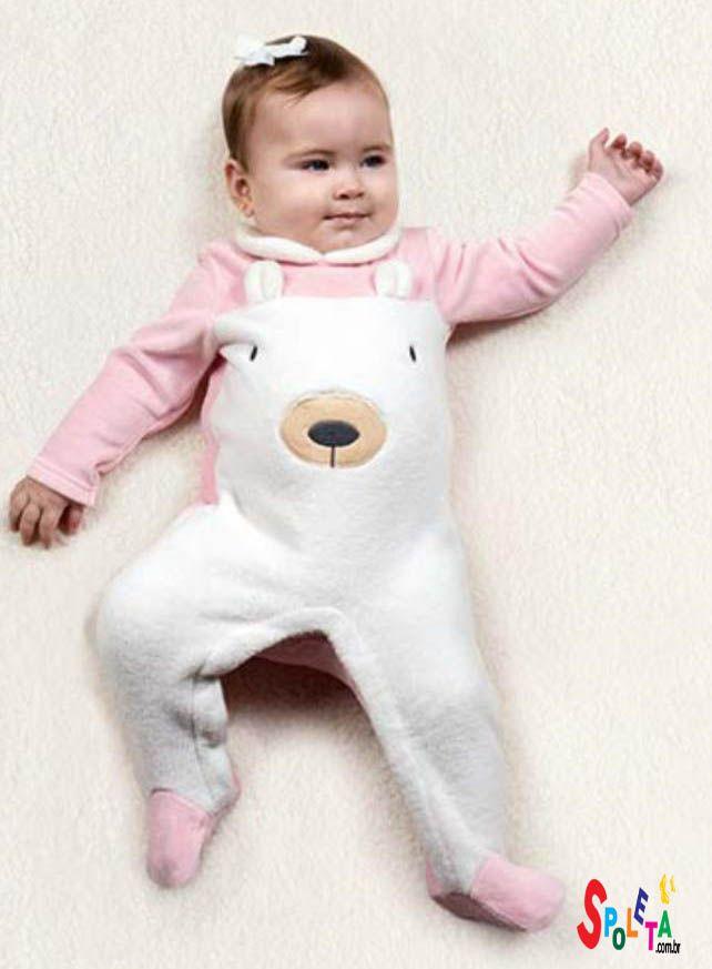 macacão pijama soft ursa