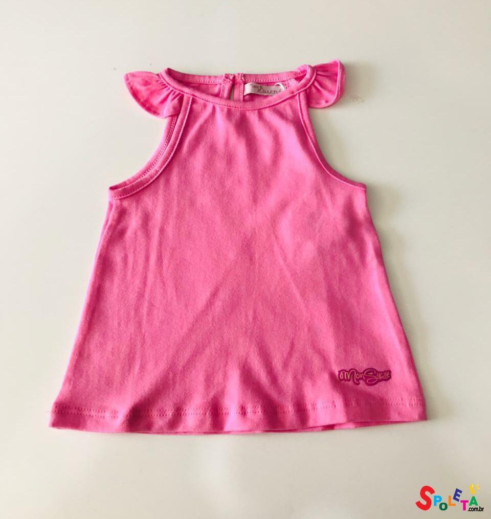 Blusa Infantil Feminina Regata Mon Sucré