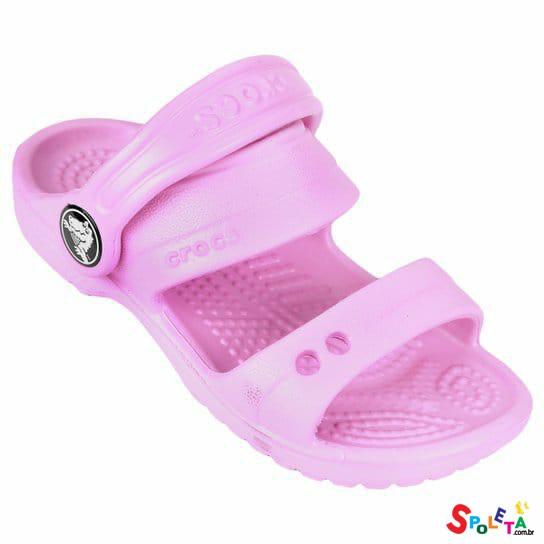 Sandália Crocs Infantil Classic - Rosa