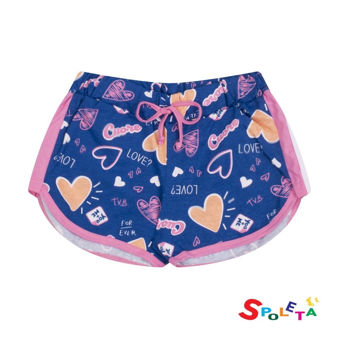 Short Infantil Feminino Heart Duzizo
