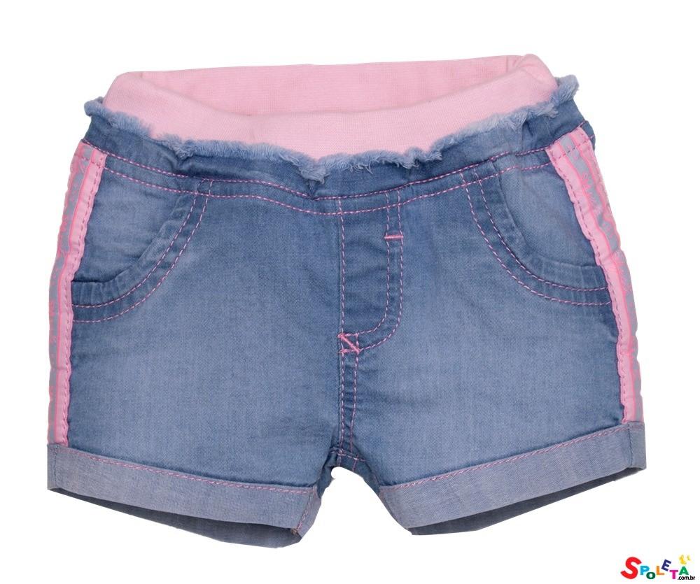Short Infantil Feminino Jeans SM