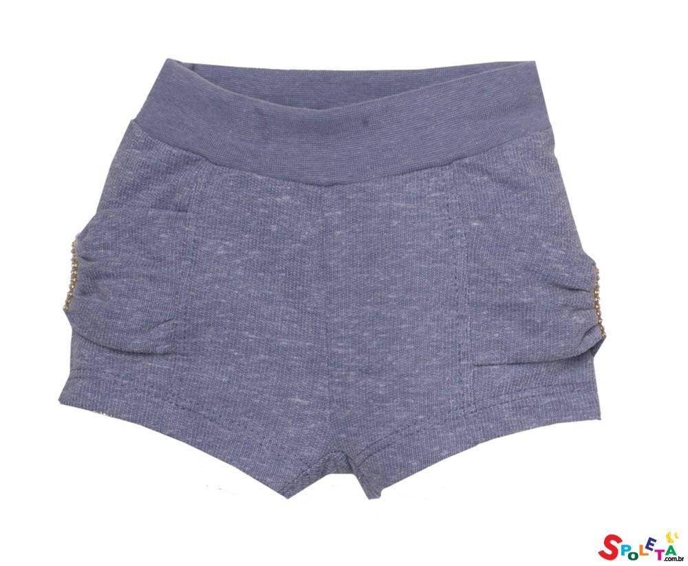 Short Infantil Feminino Moletinho Essence