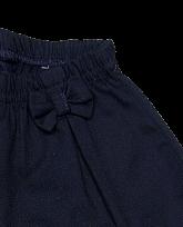 Shorts Feminino Cós Elástico Azul Marinho