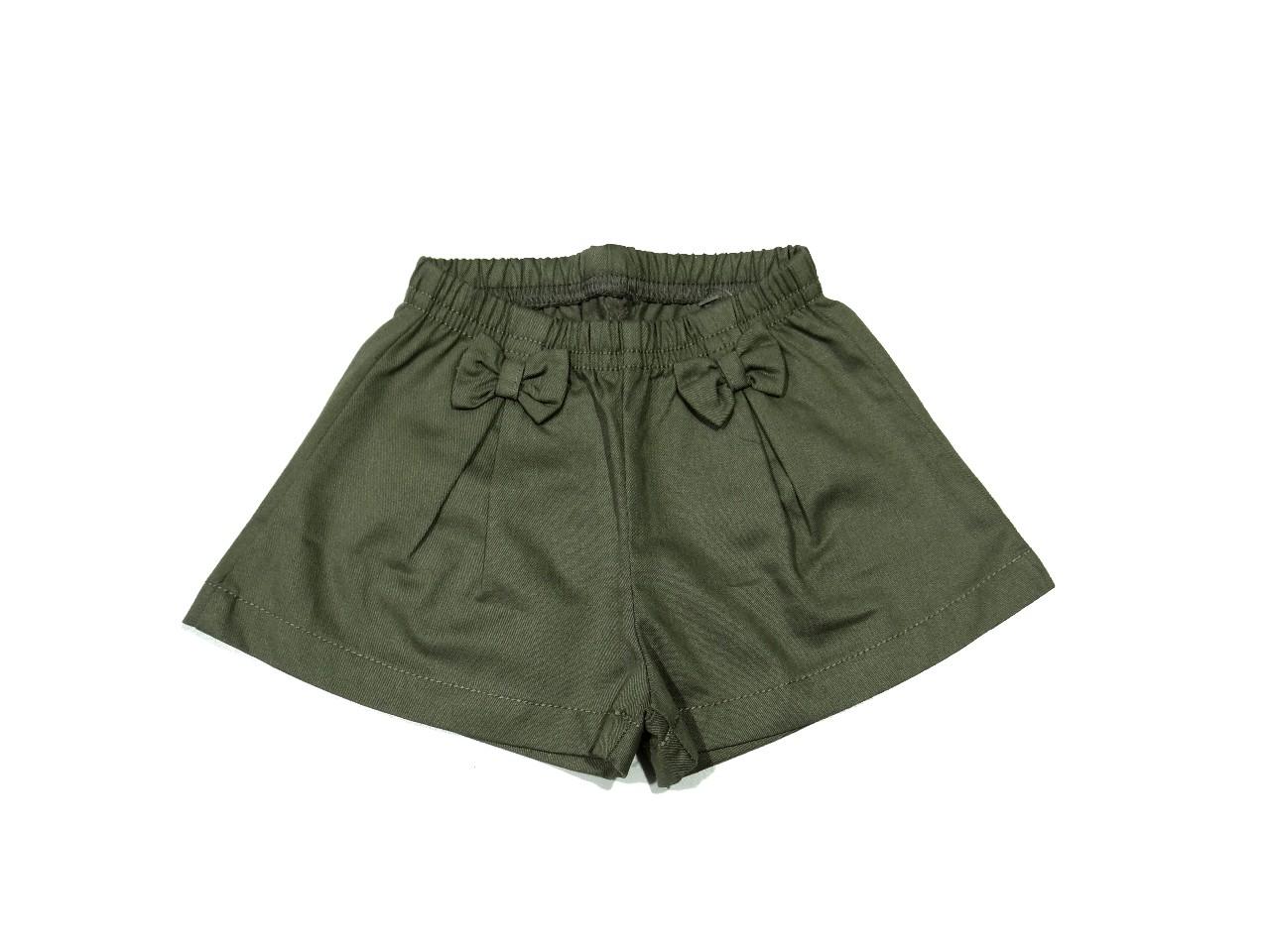 Shorts Feminino Cós Elástico Verde