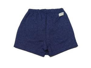 Shorts  Saia Infantil Feminino em Moletom Marinho