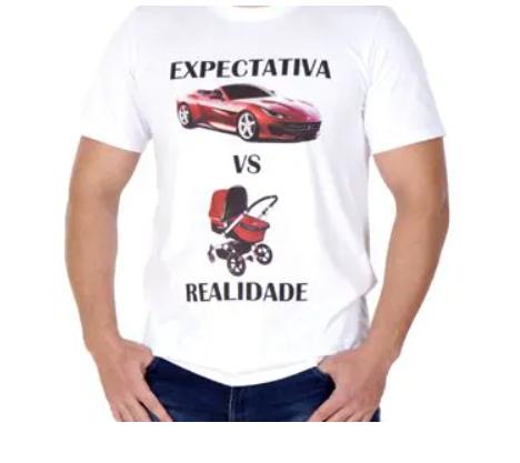 T-shirt Masculina Expectativa e Realidade